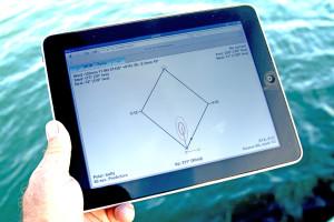 Ockam Instruments EyeApp Sailboat Racing Software running on an iPad