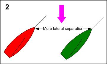 Lateral Seperation Maxed