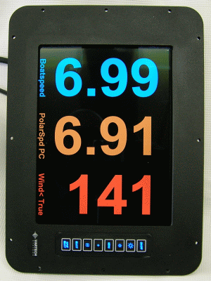 Vysion color graphic display