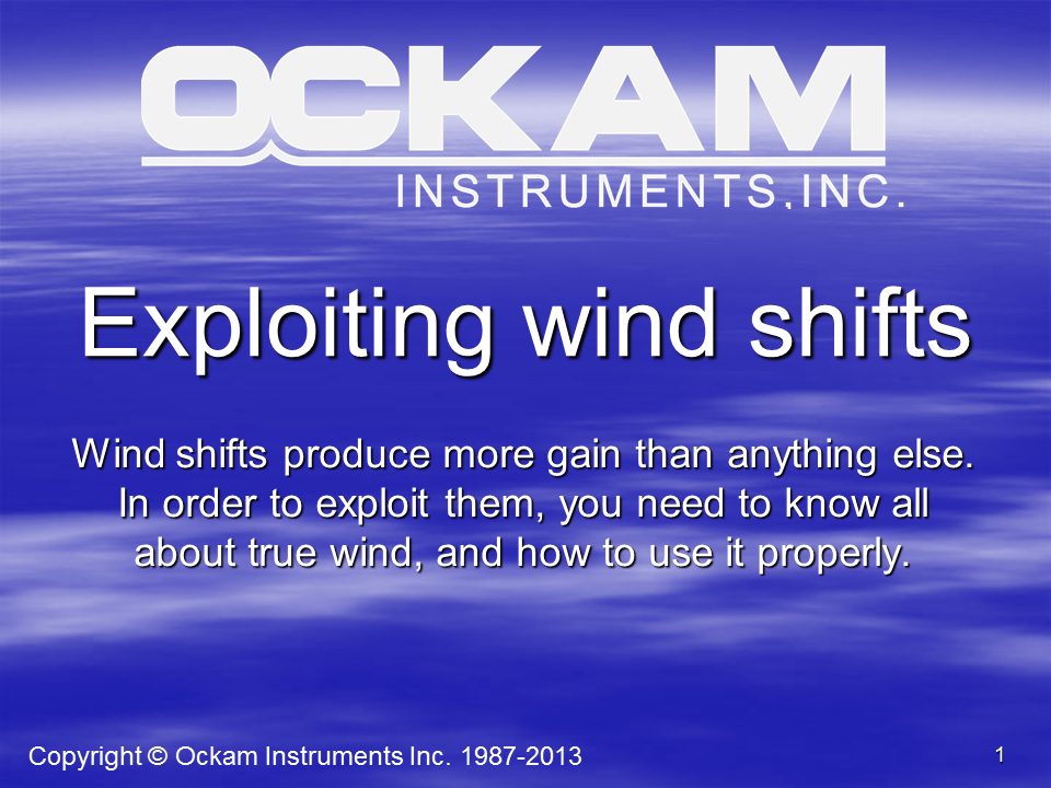 Exploiting Wind Shifts