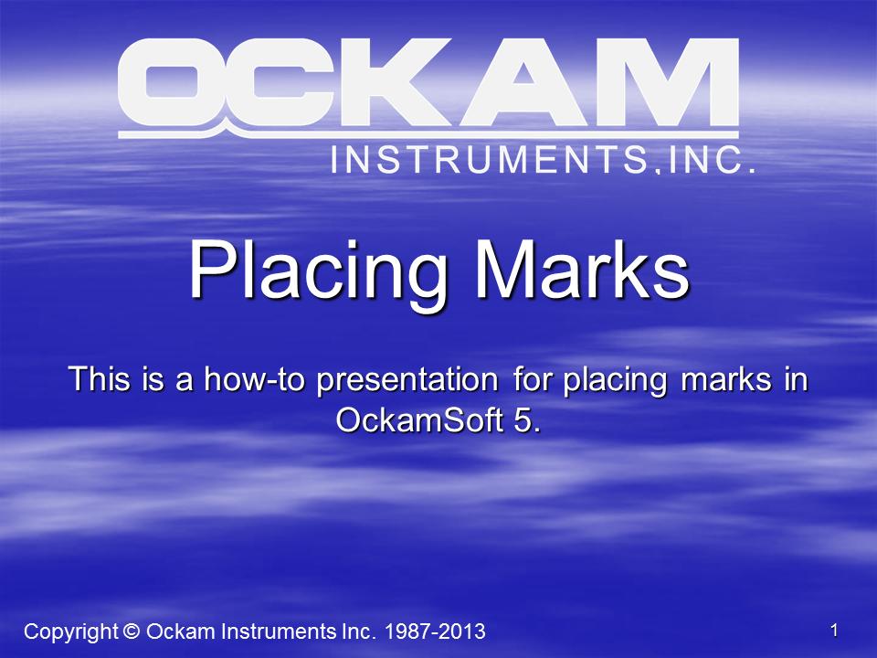 PlacingMarks